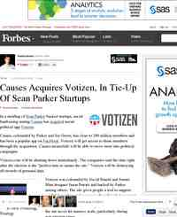 Causes Acquires Votizen Both Sean Parker Startups: Forbes.com